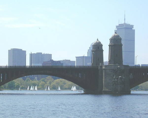 Boston Poster featuring the photograph Boating On The Charles by Laura Lee Zanghetti