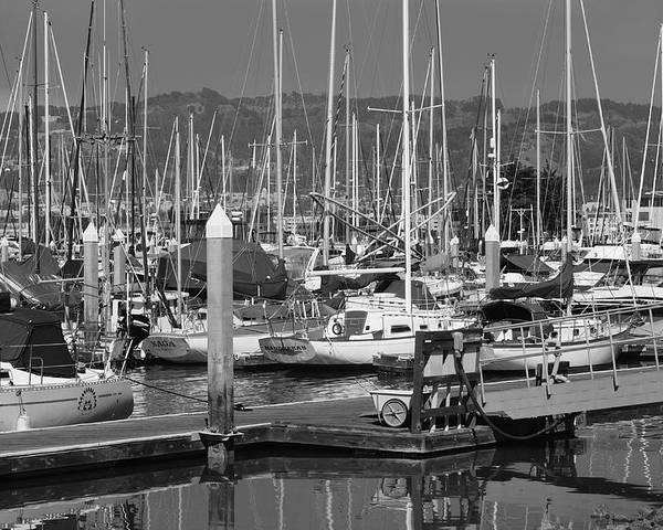 Boats Poster featuring the photograph Boats At The Bay by Brian Anderson