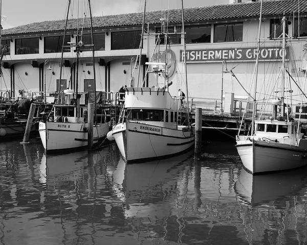Water Poster featuring the photograph Boats At The Dock by Brian Anderson