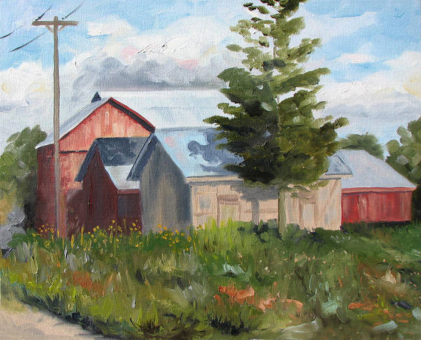 Landscape Poster featuring the painting Bobs Place by Jay Johnson