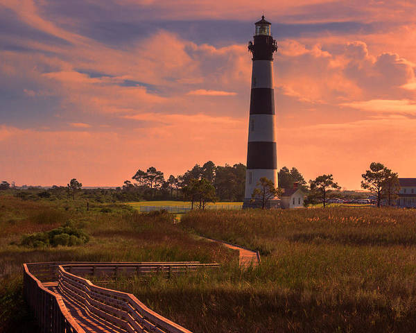 Bodie Island Lighthouse Poster featuring the photograph Bodie Island Lighthouse 2 by Judy Witter