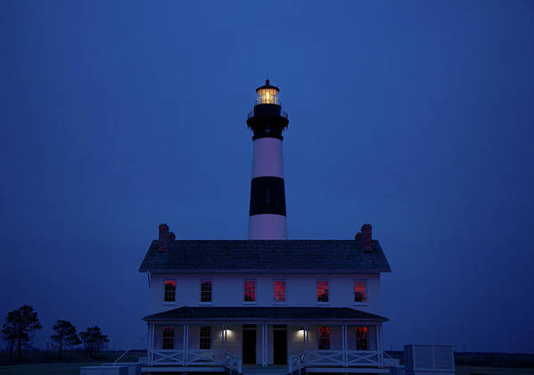 Lighthouse Poster featuring the photograph Bodie Island Lighthouse by Mark Wagoner