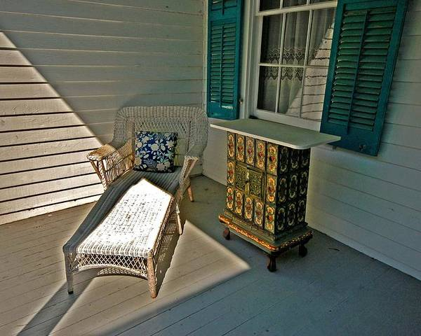 Lounge Poster featuring the painting Bon Secour Lounge On The Porch by Michael Thomas