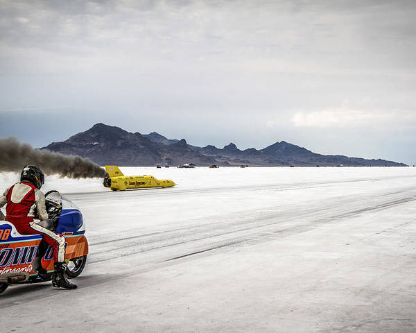 Bonneville Poster featuring the photograph Bonneville Speed Week 2012 by Holly Martin