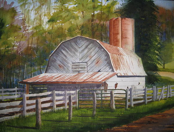 Boone Poster featuring the painting Boone Barn by Shirley Braithwaite Hunt
