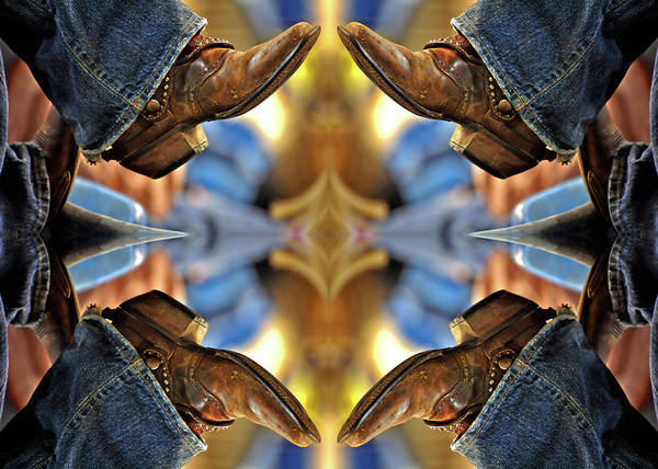 Boots Poster featuring the photograph Boots Kaleidoscope by Joan Carroll