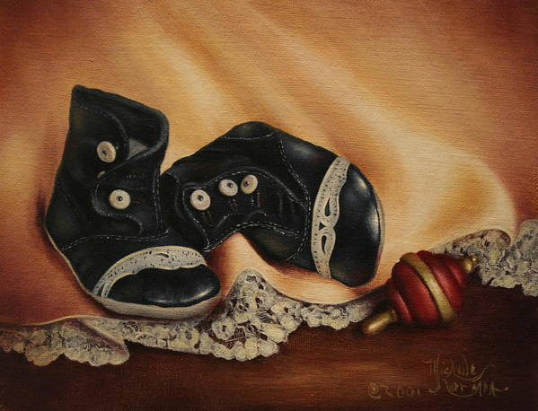 Still Life Poster featuring the painting Boots by Michelle Kerr