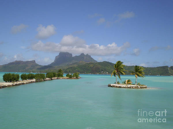 Bora Bora Airport View Poster featuring the photograph Bora Bora Airport View by Paul Jessop