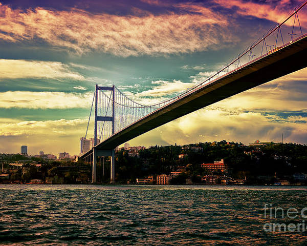 Marmara Poster featuring the photograph Bosphorous Bridge by Nilay Tailor