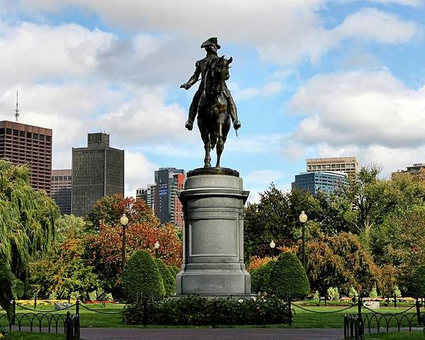 Boston Poster featuring the photograph Boston Common by DJ Florek