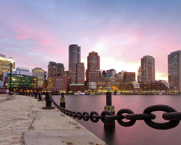 Horizontal Poster featuring the photograph Boston Harbor by Photo by Jim Boud