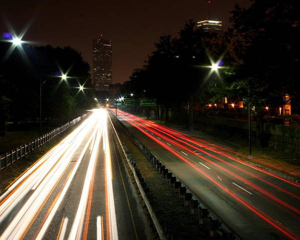 Boston Poster featuring the photograph Boston Highway by Jason Hochman