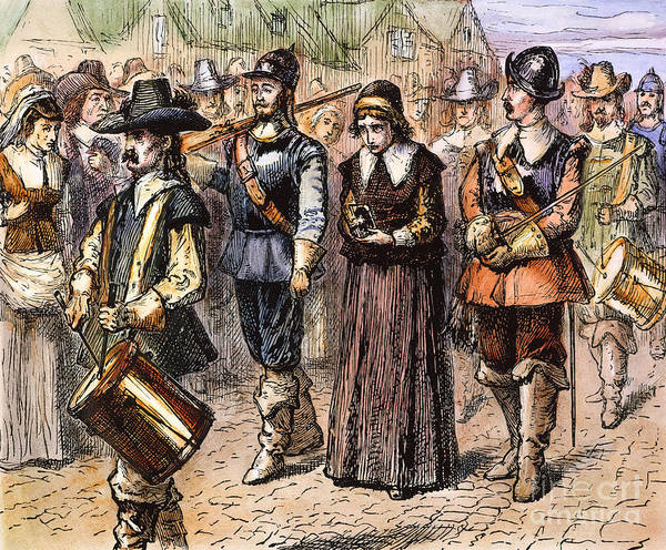 1660 Poster featuring the photograph Boston: Mary Dyer, 1660 by Granger