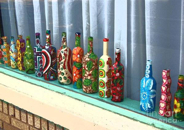 Bottles Poster featuring the photograph Bottled Up by Debbi Granruth