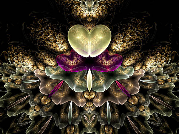 Fractal Art Poster featuring the digital art Bouquet Of Love by Amorina Ashton