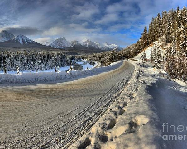 Morant Poster featuring the photograph Bow Valley Winter Wonderland by Adam Jewell