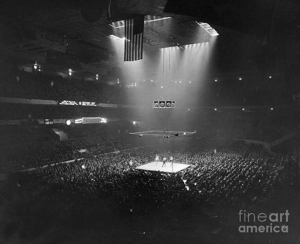 1941 Poster featuring the photograph Boxing Match, 1941 by Granger
