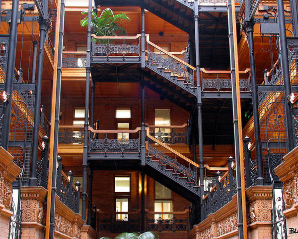 Bradbury Poster featuring the photograph Bradbury Building Atrium by Al Blackford