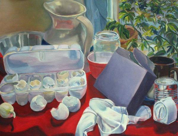 Still Life Poster featuring the painting Breakfast Tablescape by Stephanie Allison