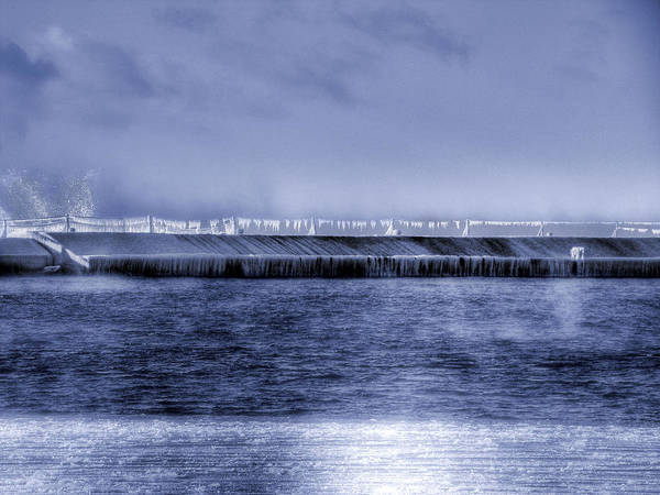 Minnesota Poster featuring the photograph Breakwater by Tingy Wende