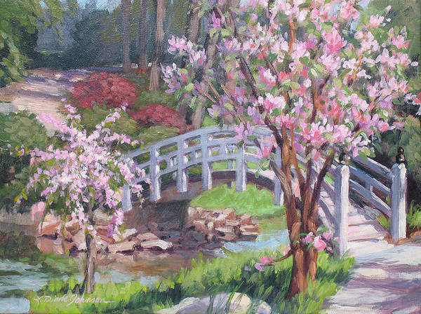 Sarah Duke Garden Poster featuring the painting Breath of Spring by L Diane Johnson