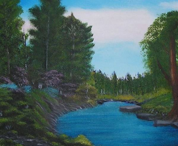 Acrylic Paintings Poster featuring the painting Breathless by Allison Prior