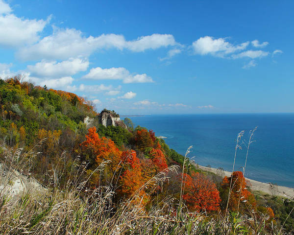 Scarborough Poster featuring the photograph Breathtaking Bluffs _ Scarborough Bluffs by Spencer Bush