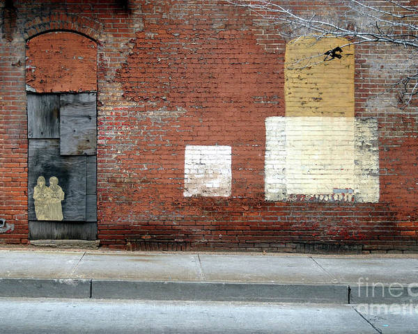 Brick Walls Poster featuring the photograph Brick Wall 2 Of Four by Walter Oliver Neal