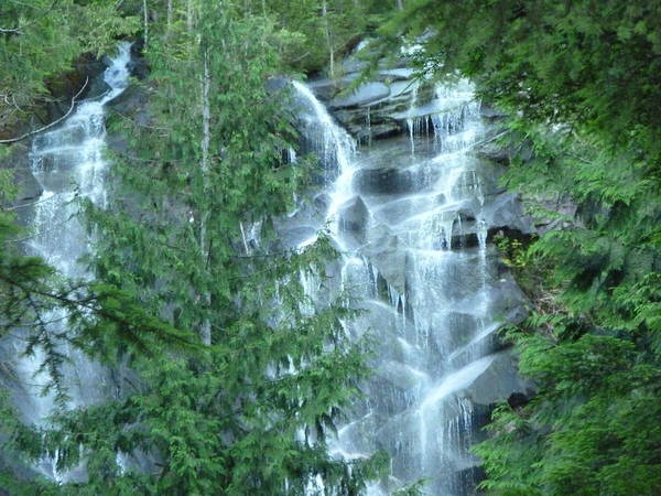 Landscape Poster featuring the photograph Bridal Vail Falls by Mark Camp
