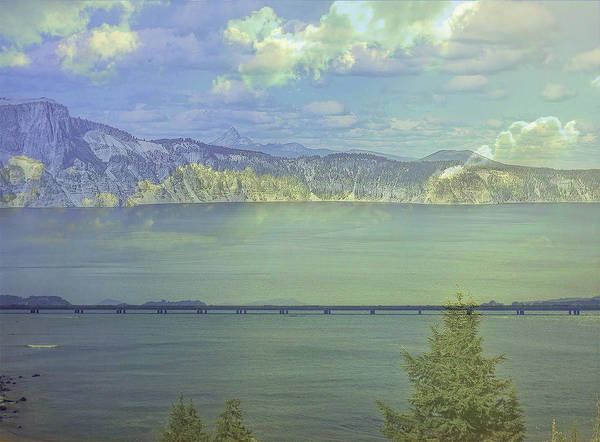 Lake Poster featuring the photograph Bridge Across The Lake by Nancy Marie Ricketts