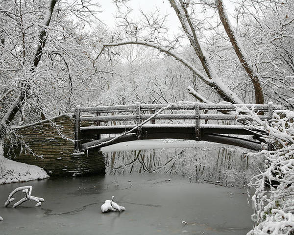 Bridge Poster featuring the photograph Bridge In Winter by Timothy Johnson