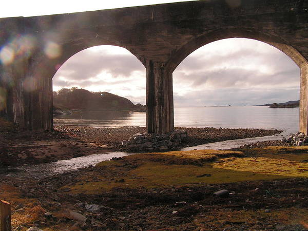 Landscape Poster featuring the photograph Bridge Near Mallaig by Laurence Northcote
