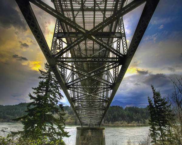 Bridge Of The Gods Poster featuring the photograph Bridge Of The Gods by David Gn