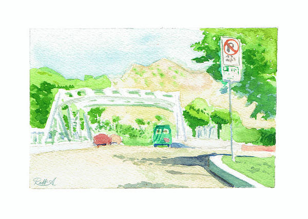 Color Poster featuring the painting Bridge On Concord St. by Raffi Antounian