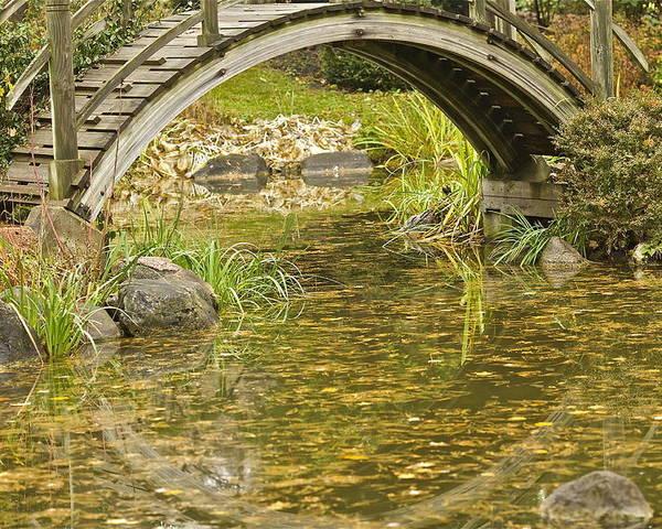 Landscape Poster featuring the photograph Bridge Reflections by Robert Joseph