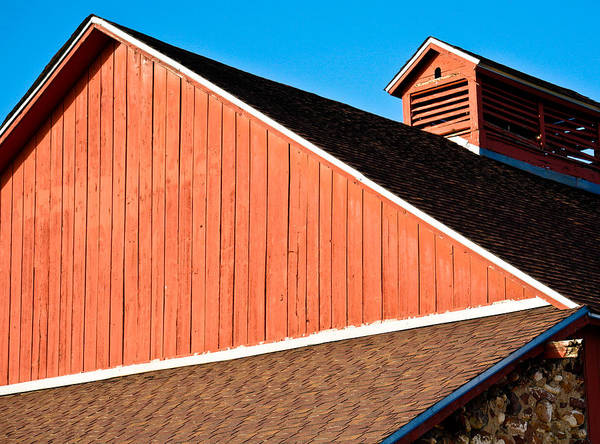 Americana Poster featuring the photograph Bright Red Barn by Marilyn Hunt
