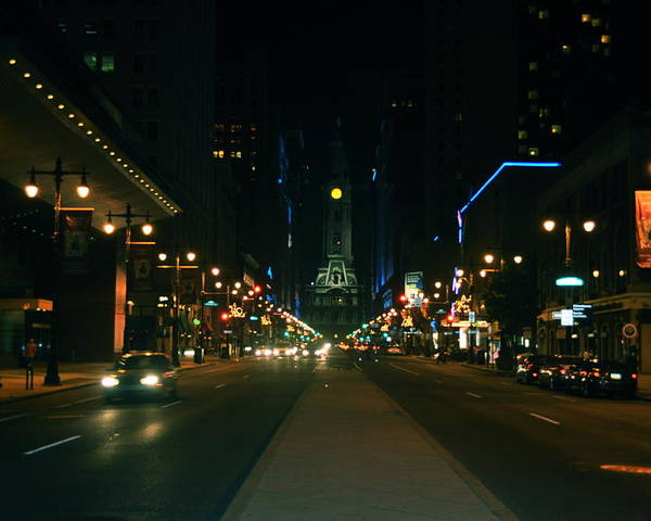 Lights Poster featuring the photograph Broad Street Beauty by Brynn Ditsche