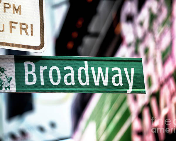 Broadway Poster featuring the photograph Broadway by John Rizzuto