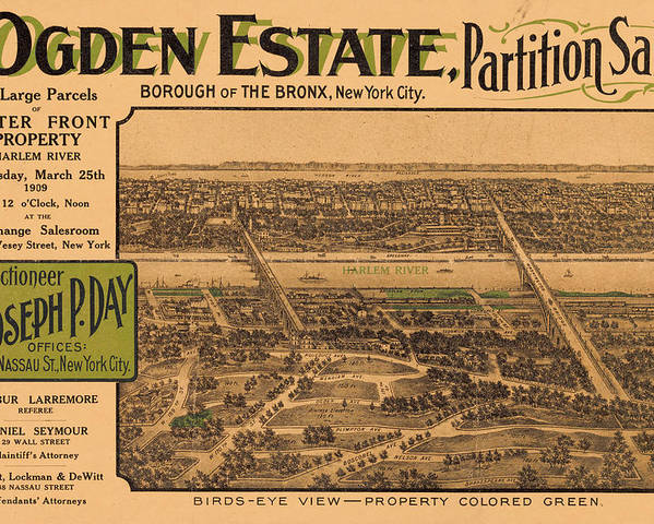 New York City Poster featuring the photograph 1909 Bronx New York Realtor Flyer by Rospotte Photography