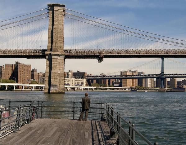 Brooklyn Bridge Poster featuring the photograph Brooklyn Bridge by Andrew Kazmierski