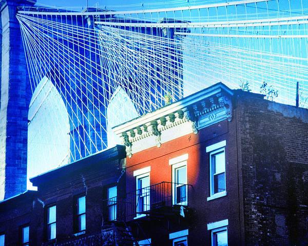Brooklyn Poster featuring the photograph Brooklyn Bridge, New York City, December by Yuri Lev