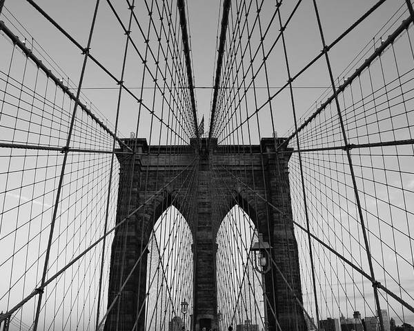 Brooklyn Bridge Poster featuring the photograph Brooklyn's Web by Joshua Francia