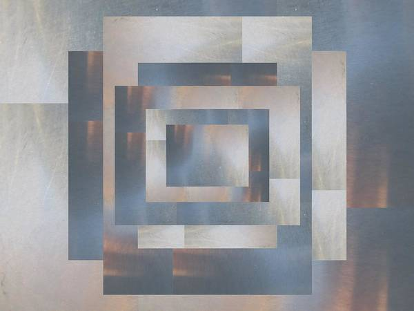 Abstract Poster featuring the digital art Brushed 23 by Tim Allen