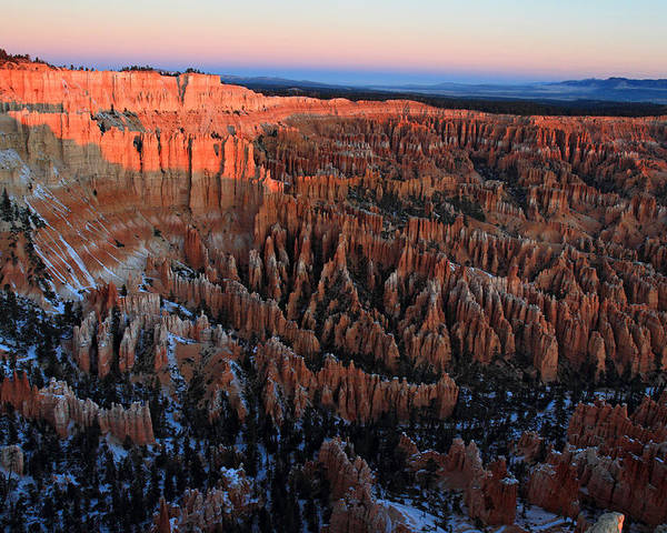 Bryce Poster featuring the photograph Bryce Canyon Sunrise by Pierre Leclerc Photography