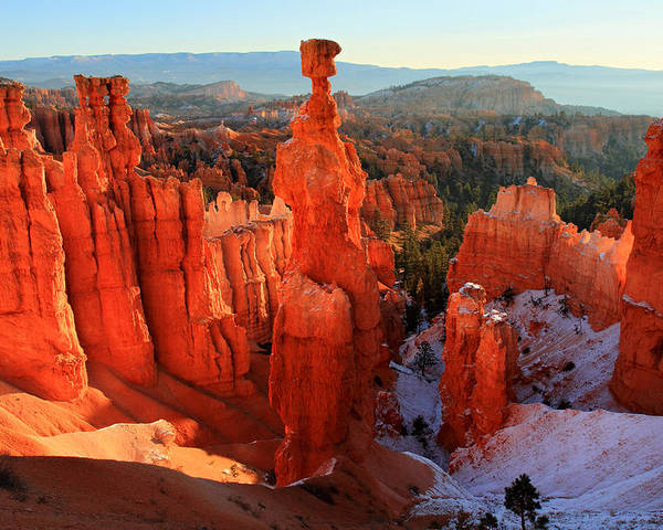 Bryce Poster featuring the photograph Bryce Canyon's Thor's Hammer by Pierre Leclerc Photography