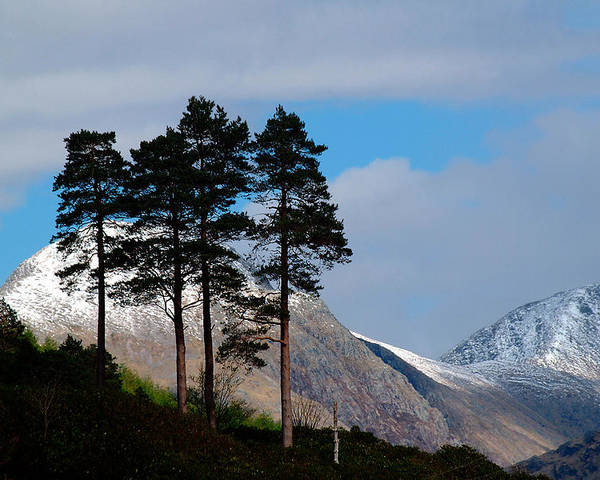 Scotland Poster featuring the photograph Buachaille Etive Mor From Glen Etive by John McKinlay