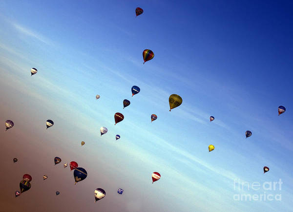 Balloon Fiesta Poster featuring the photograph Bubbles by Angel Ciesniarska