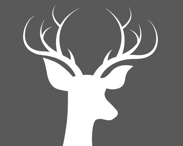Buck Deer Poster featuring the digital art Buck Deer by Chastity Hoff