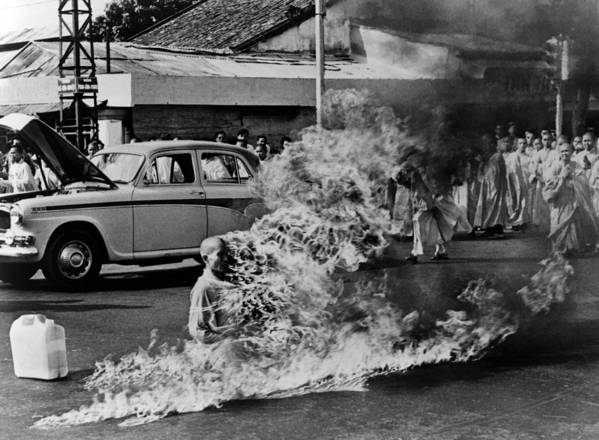 Buddhist Monk Thich Quang Duc Protest Poster By Everett