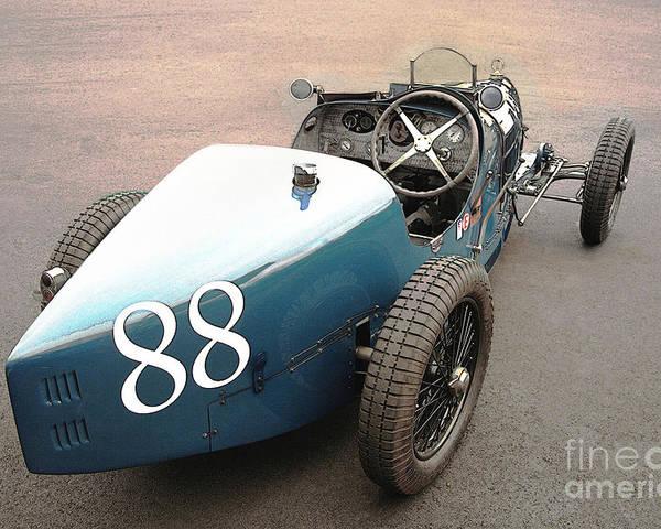 Bugatti Poster featuring the photograph Bugatti Type 35 # 88 by Curt Johnson